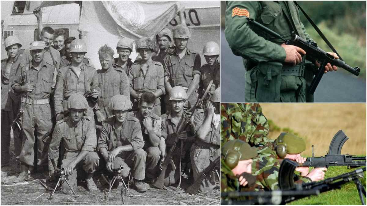 Irish Army K guns Bren FAL UN