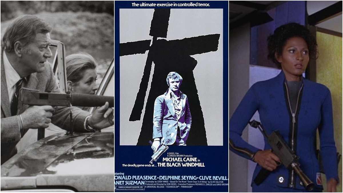 John Wayne Pam Greir Michael Caine