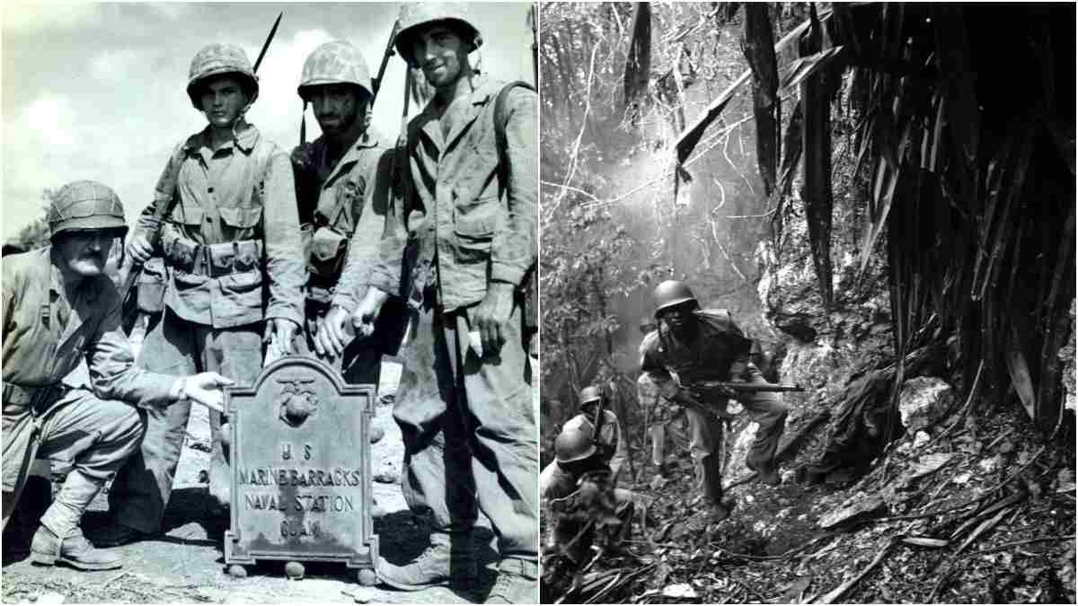M1 Garand Marines Guam 1944 1945