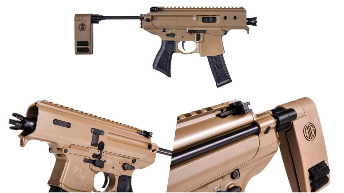 Sig Sauer Copperhead MPX pistol in three views