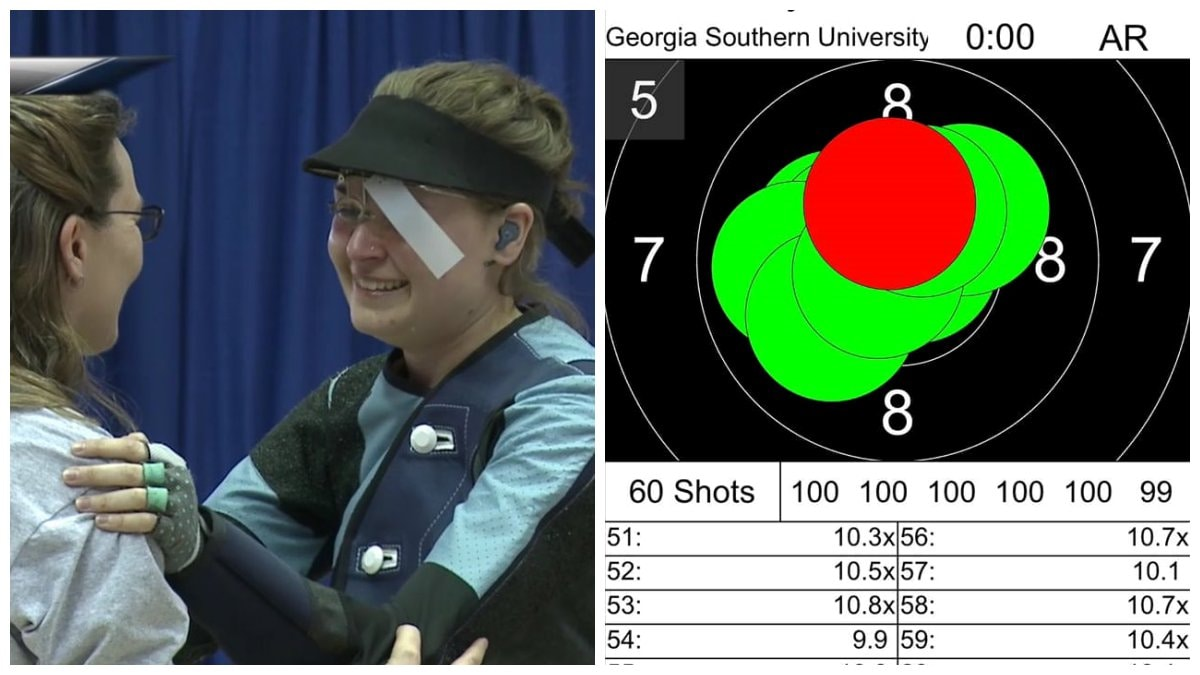 New NCAA Air Rifle Championship record set with 599/600 score