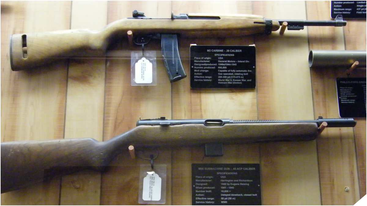 Reising M50 compared to a M2 Carbine