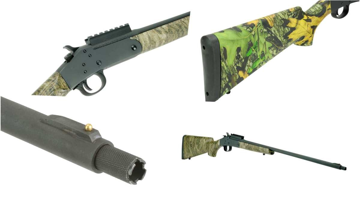 The 301 Turkey is offered in either Mossy Oak Bottomland or Obsession camo patterns with the same specs and price. The interchangeable choke is a 1/2-32UN Win. choke pattern.