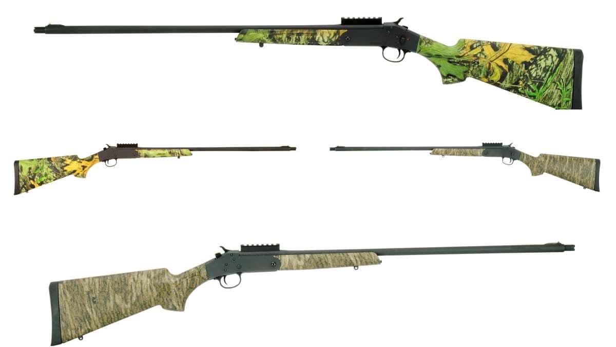 Stevens 301 Turkey shotgun in 4 different views