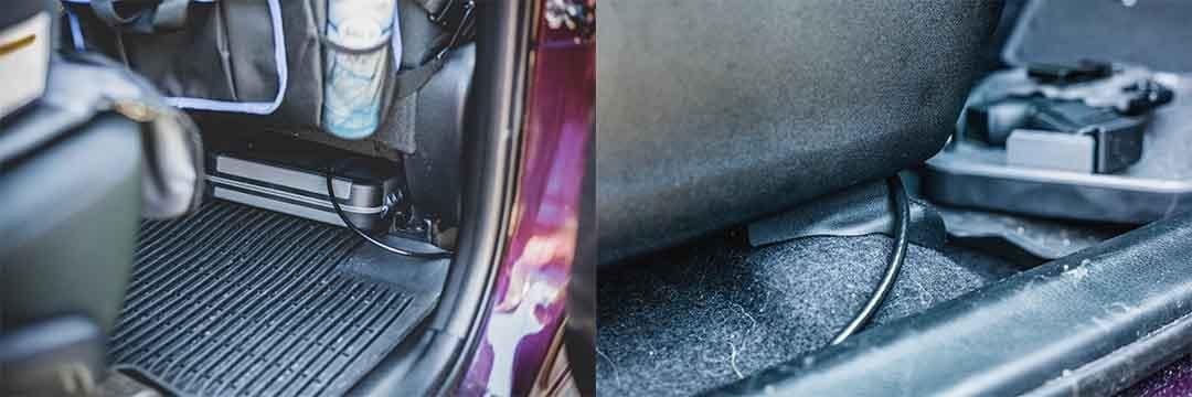 gun stored under passenger seat