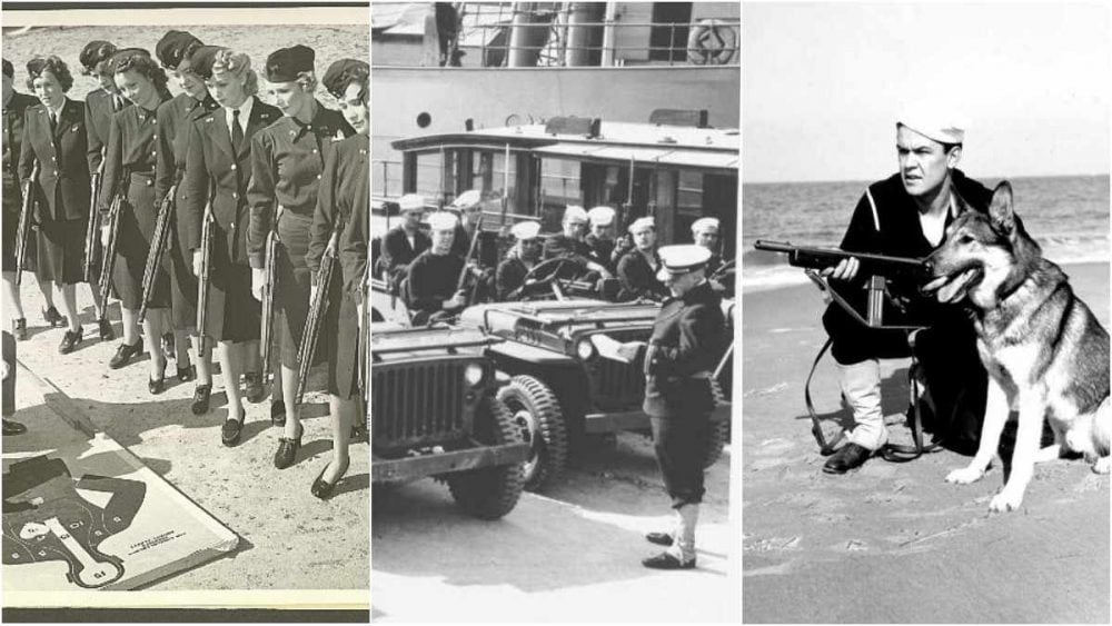 USCG using Reising SMGs WWII