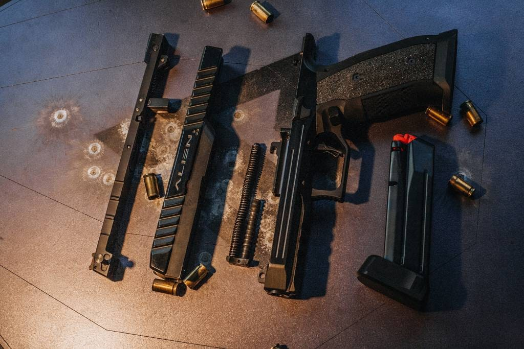 Laugo Arms Alien pistol field stripped
