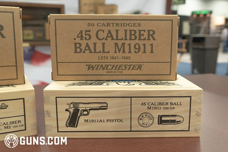 Winchester WWII Victory Series .45 cal M1911 Ammunition