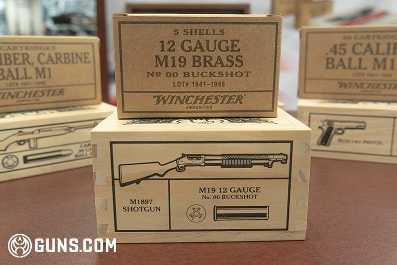 Winchester WWII Victory Series 12 gauge M19 brass Ammunition
