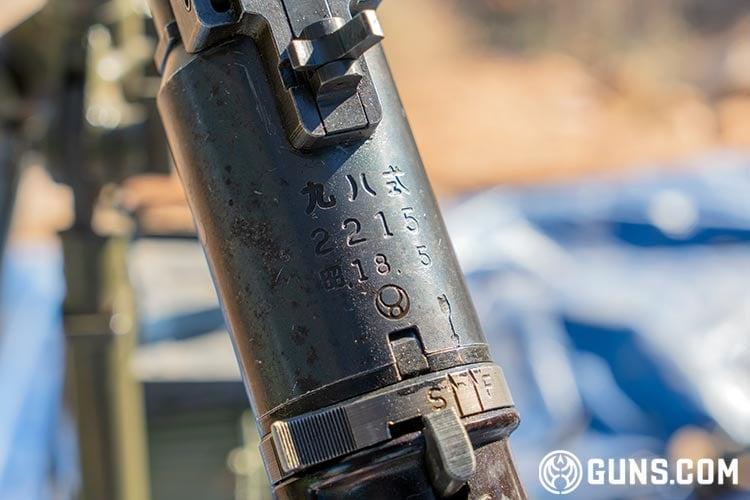 Japanese Type 98 Bomber Defense Machine Gun at the Big Sandy Shoot