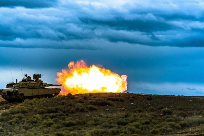Alpha Company, 2nd Battalion, 116th Cavalry Regiment, conducts table six tank crew qualification Feb. 4, 2019, Orchard Combat Training Center
