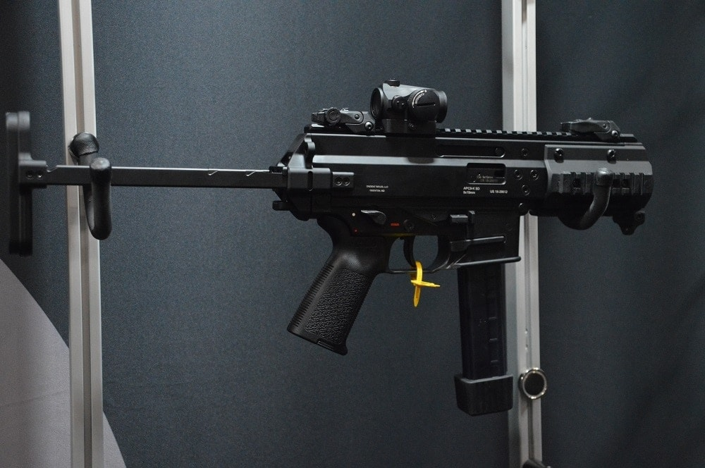 B&T had a Trident Arms-marked APC9K-SD model on hand at SHOT Show earlier this year that looked like an SCW contender.