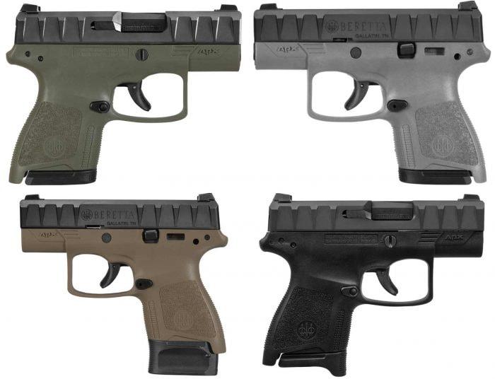 Beretta APX carry four pistol colors