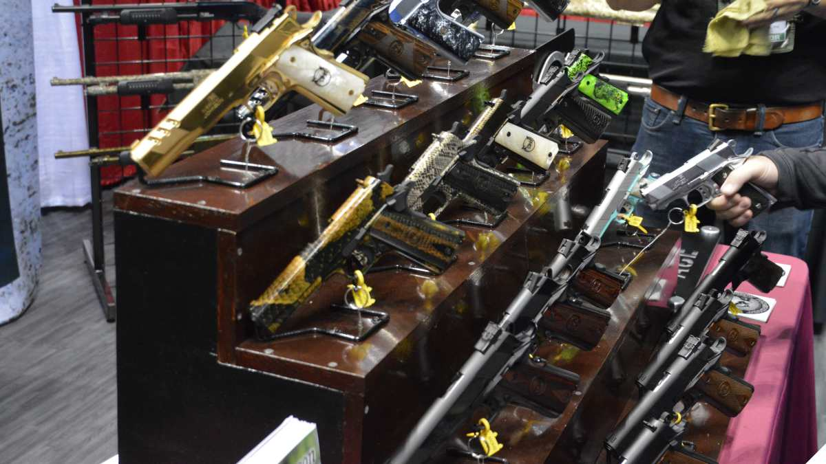 A table of 1911 pistols made by Iver Johnson
