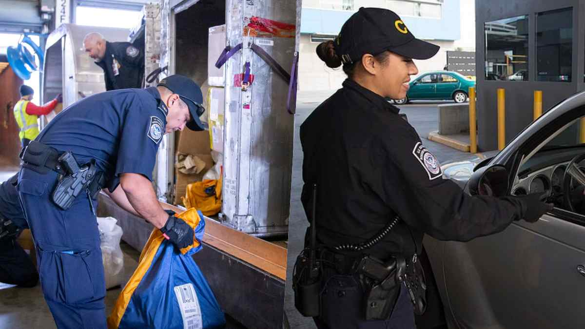 CBP officers at ports of entry with holstered HK P-2000 pistols