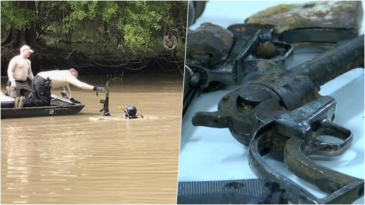 Guns Missing 17 Years Surface In Louisiana Bayou (VIDEO