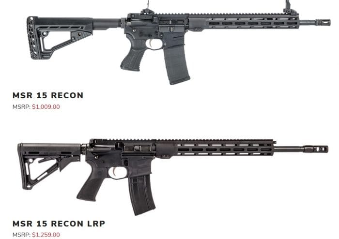 Savage MSR Recon and Recon LRP compared