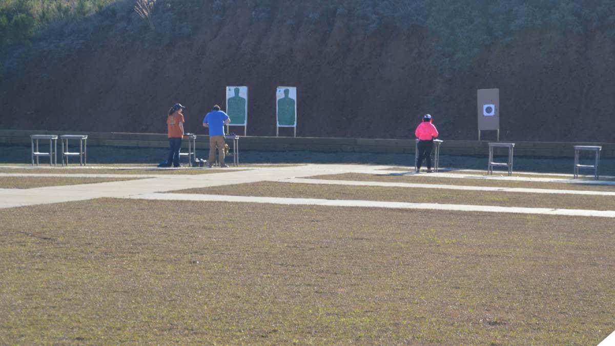 People on shooting range