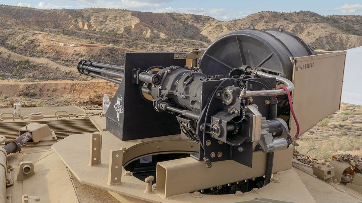Battlefield Vegas Hand of God 20mm Vulcan Cannon at the Big Sandy Shoot