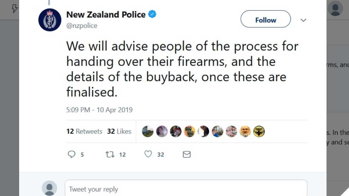 New Zealand police banned guns buyback