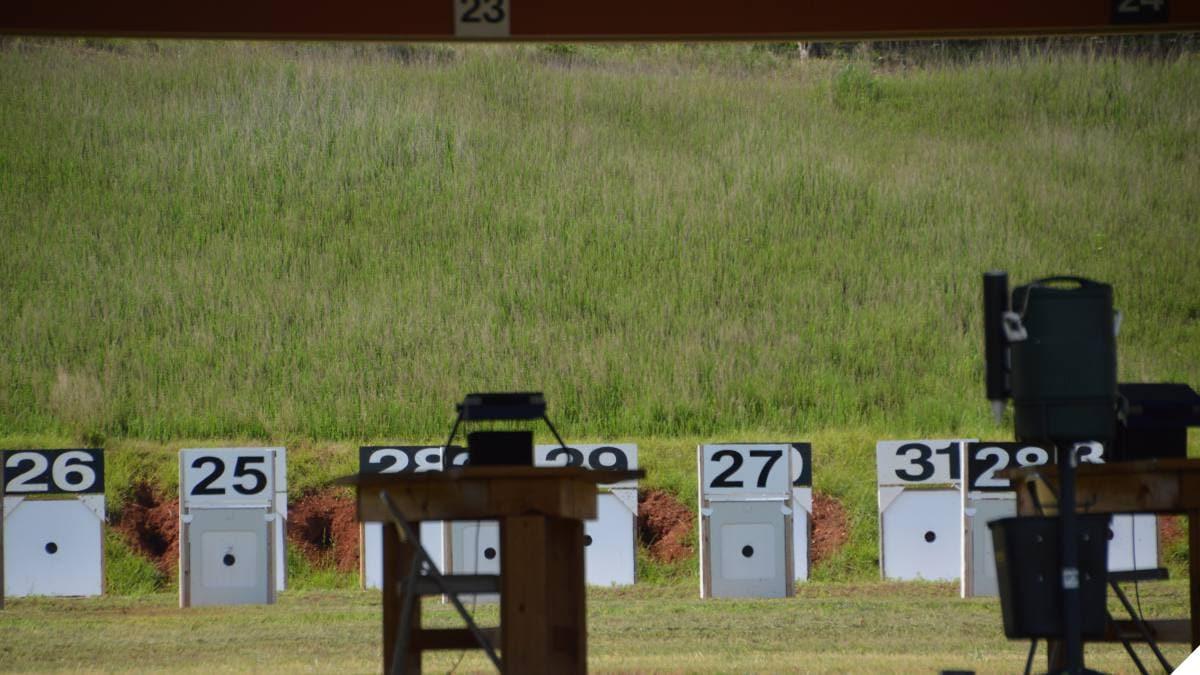 bullseye shooting range with Kongsberg Target Systems