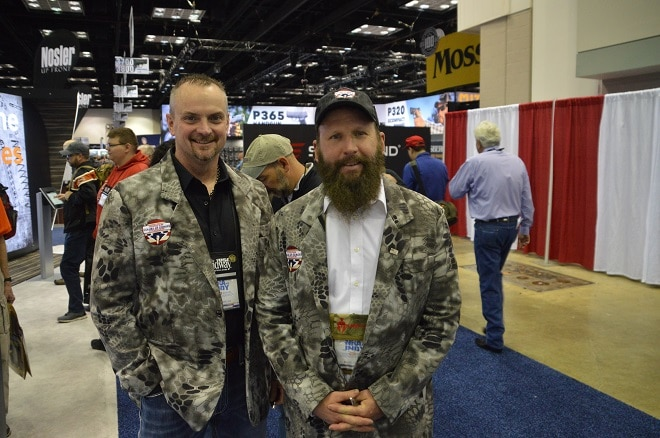 Robb Gustafson and James Ware with the https://www.colorsofheroes.org/about Colors of Heroes, a nonprofit foundation dedicated to providing outdoor experiences to veterans and their families. Those jackets, tho.