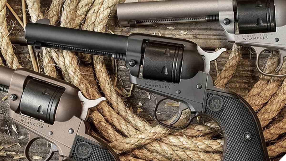 Ruger Wrangler revolver line on table
