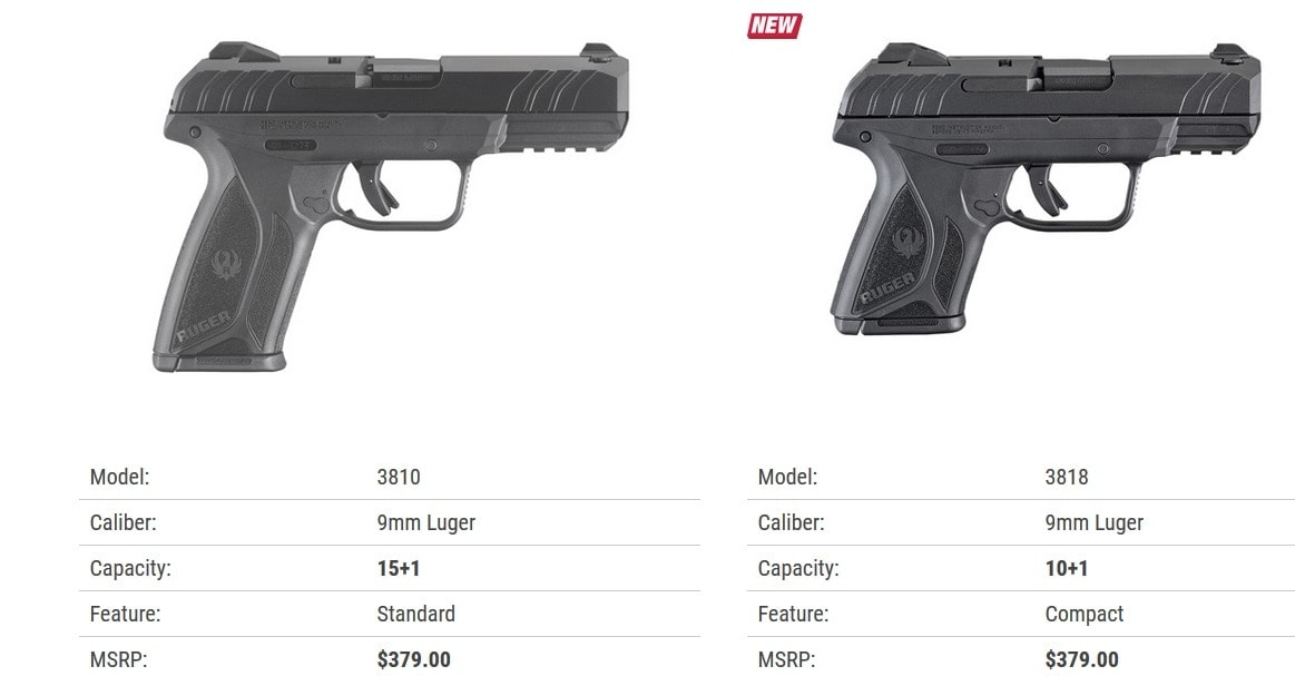 Ruger Security-9 Compact Pistol compared