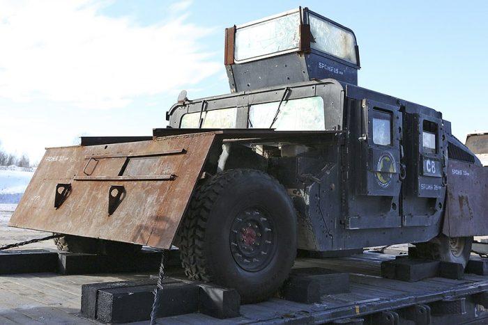 Russian Syrian Train HMMWV-M1151 2