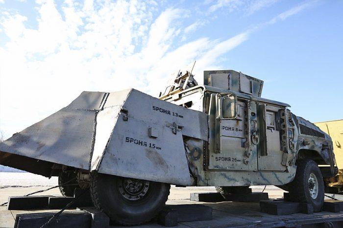 Russian Syrian Train HMMWV-M1151