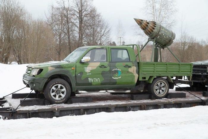 Russian Syrian train Toyota Rocket technical