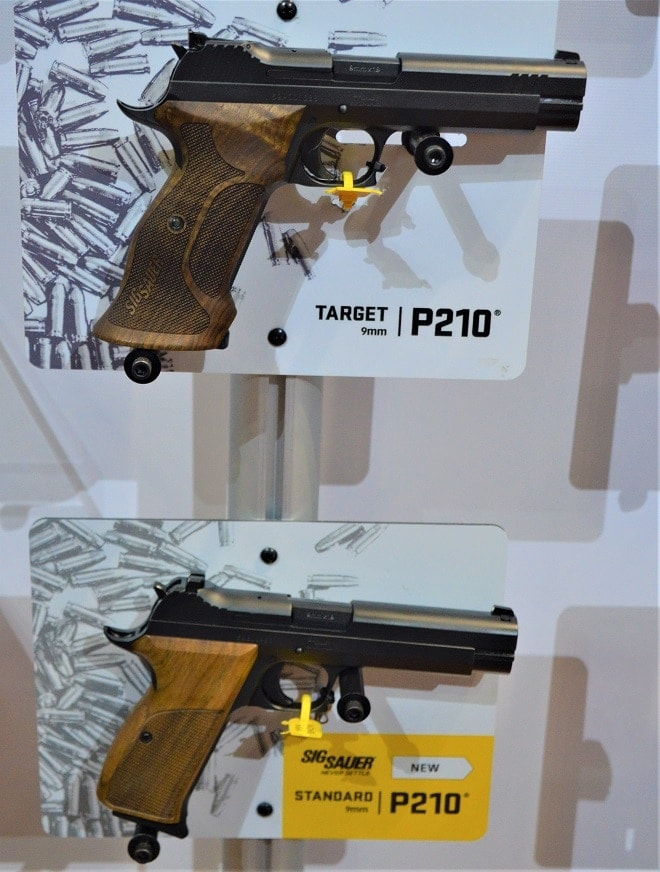 Sig Sauer P210 Standard and Target compared