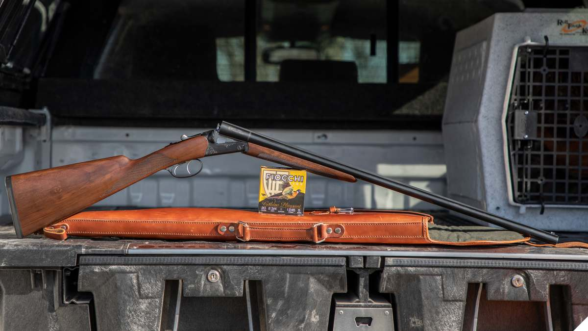 CZ-USA Bobwhite G2 SXS shotgun on tailgate