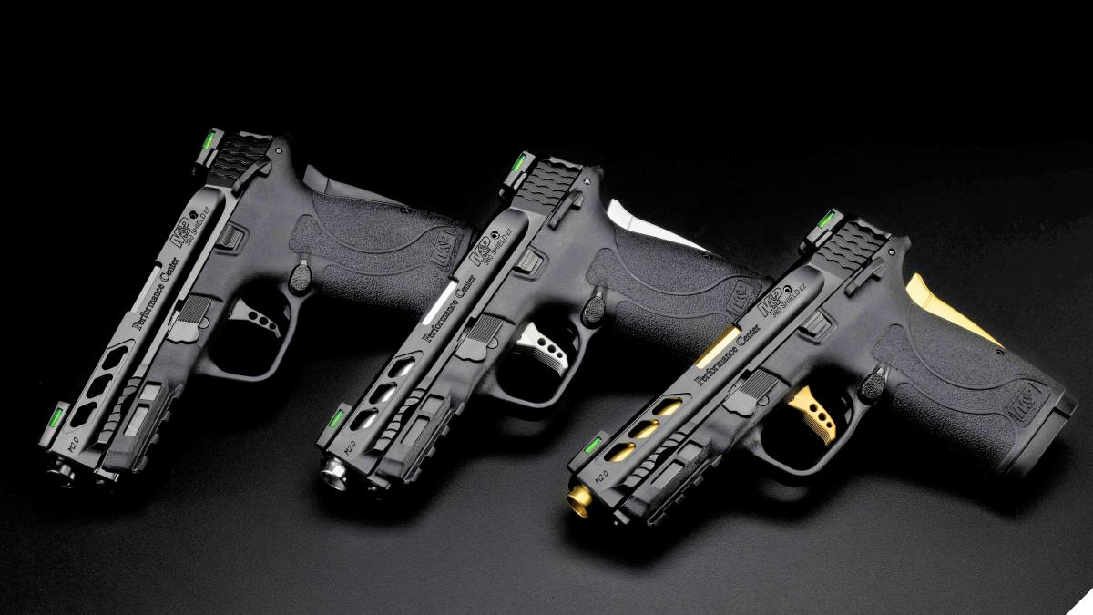The Performance Center M&P380 Shield EZ is available with a matte black frame and a choice of black, silver, or gold accents. (Photo: S&W)
