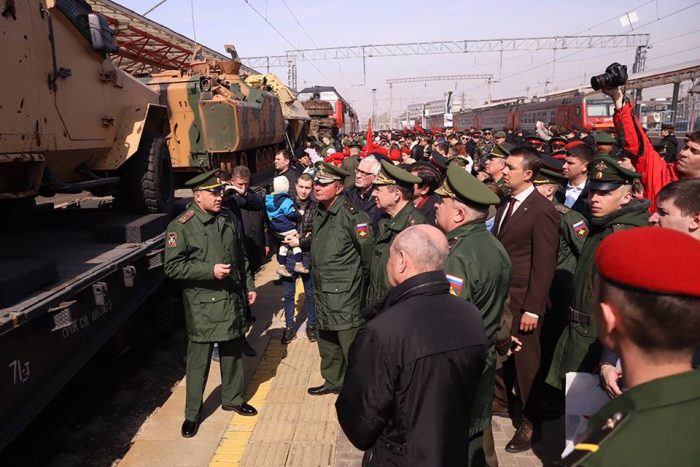 Syrian booty train Ministry of Defence of the Russian Federation April 2019