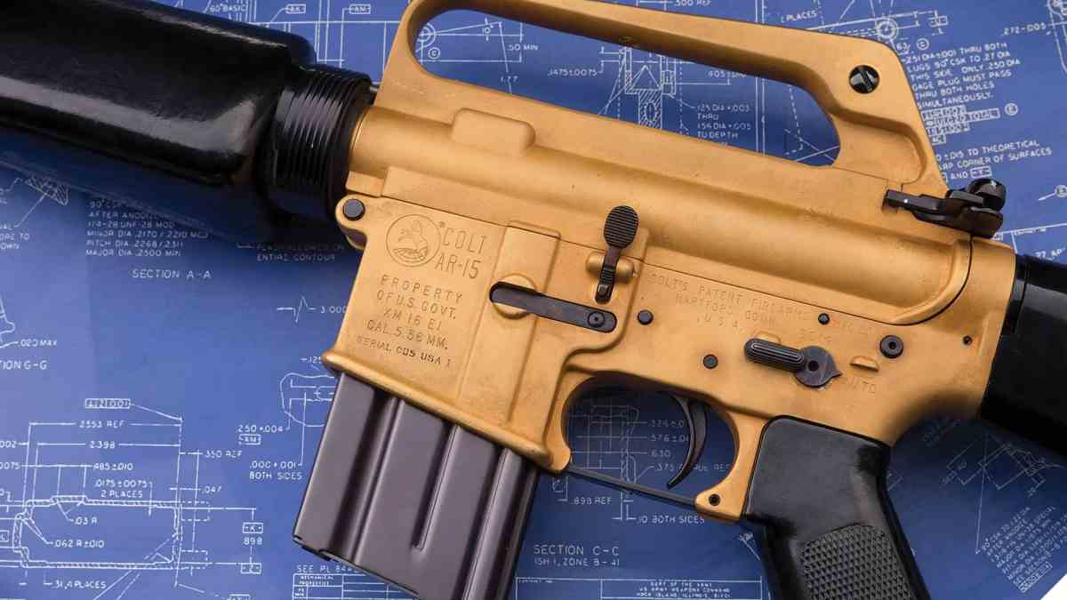 Golden prototype AR-15 XM16E1