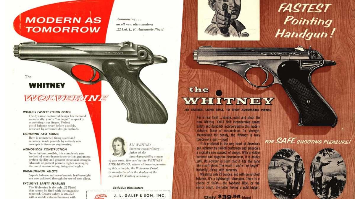 Whitney Wolverine pistols ads