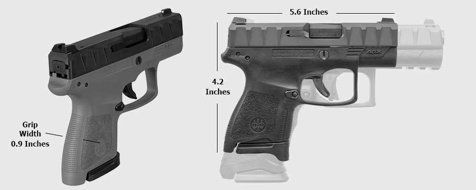 Beretta APX Carry dimensions