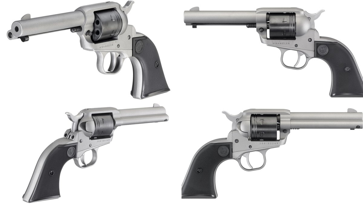 silver ruger wrangler collage