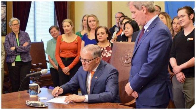 Gov. Jay Inslee signing gun control bills