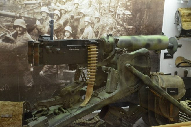 As well as a Spandau Maxim MG08, fresh from the trenches of the Western Front