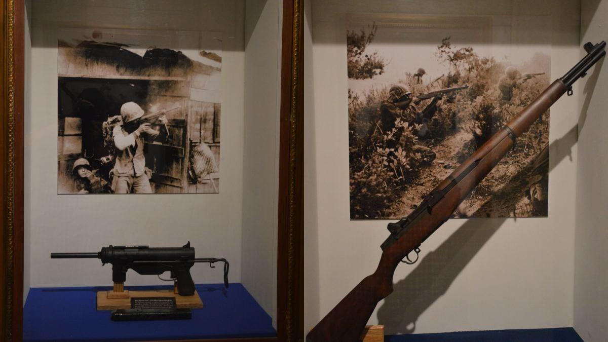 M3 Grease Gun M1 Garand on display