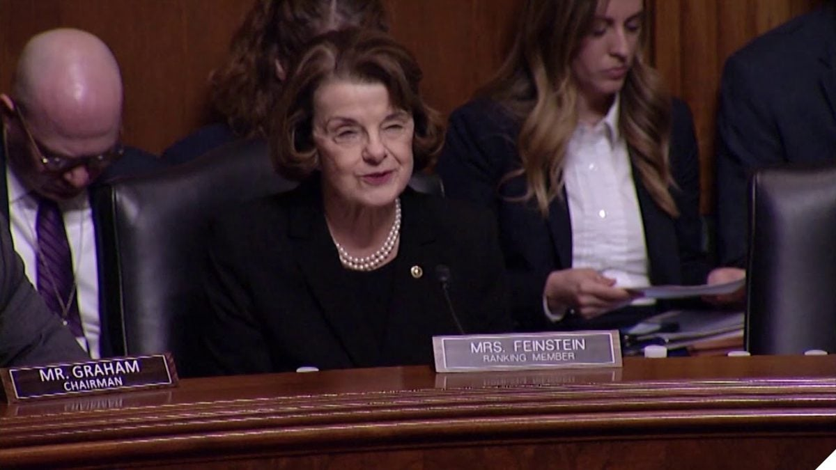 U.S. Sen. Dianne Feinstein speaks in Senate Judiciary Committee