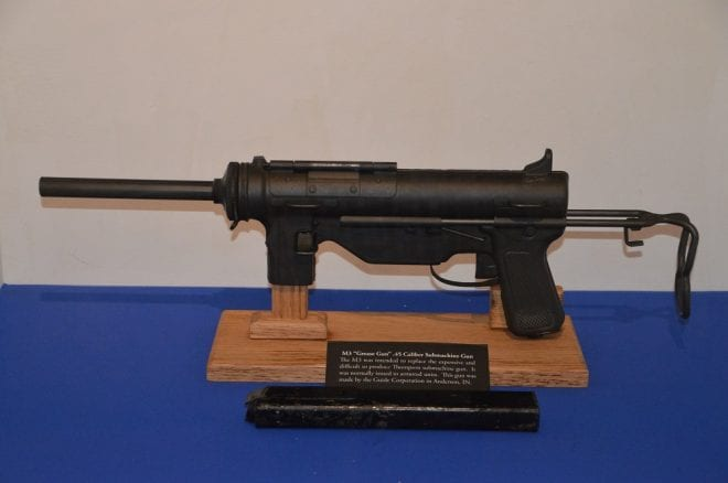 The more basic M3, on display at the Indiana War Memorial