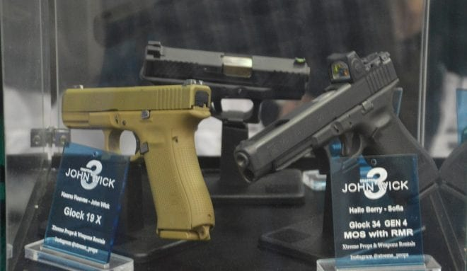 G19X used by Wick and a G34 MOS with RMR carried by Berry