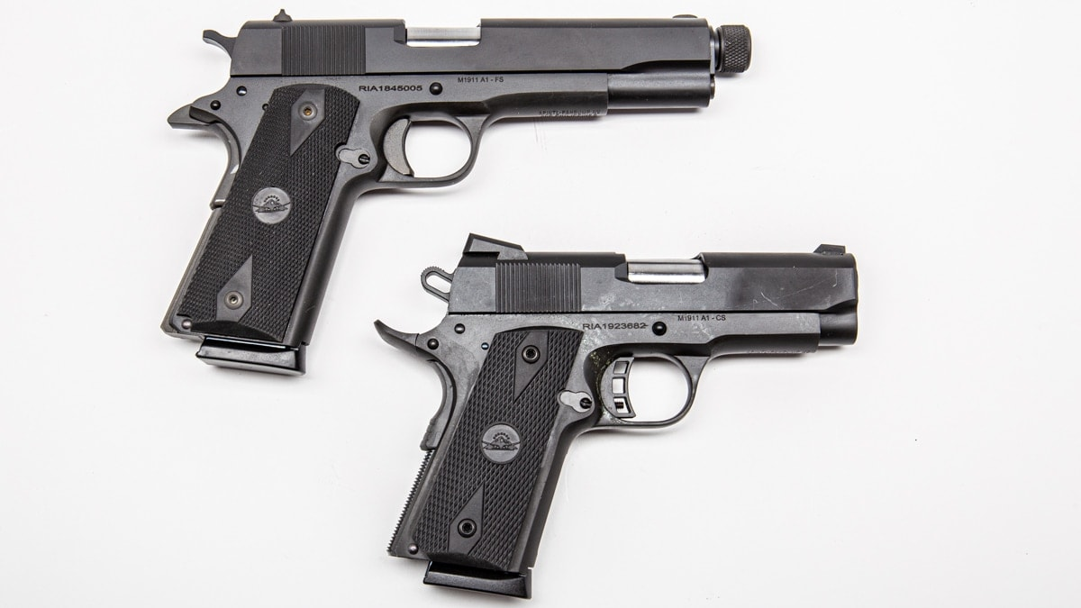If you are looking for variety, RIAs 1911s come in Commander and Officer lengths as well as in offerings that include threaded barrels all for around the same price point