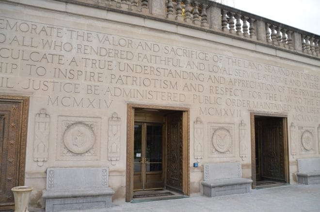 Indiana War Memorial front