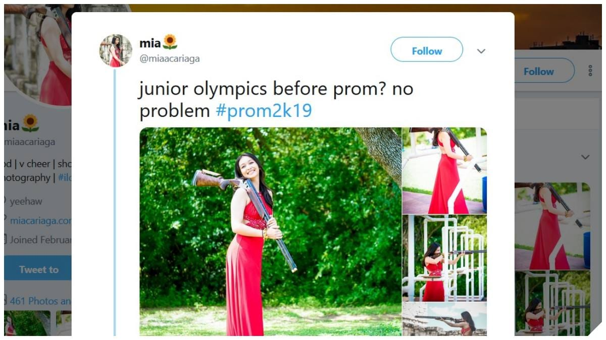 Junior Shooting Sports Athlete Stuns in Prom Pics