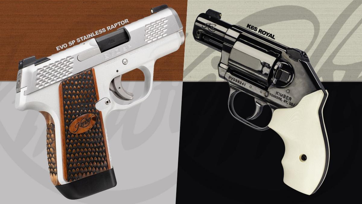 Kimber Introduces New Royal K6s, EVO SP Stainless Raptor (VIDEO)