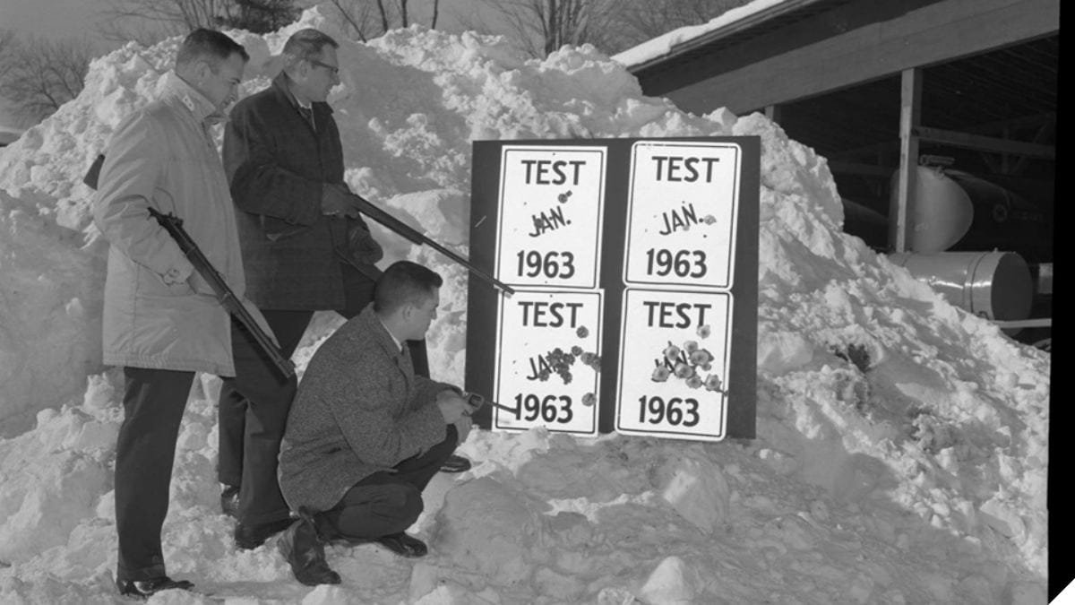 Old School Highway Sign Testing, Guns Included (PHOTOS)